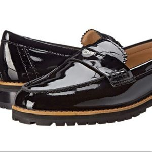 14350bd70 Shoes - Coach Peyton Black leather loafers size 7